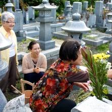 A Shinto cemetery.