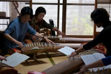 Rocking out to some koto music.