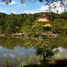 "The Golden Pavilion. A Zen Buddhist temple in Kyoto, Japan. When I saw it I was all like, ""whaaaa!!! IS THIS THING FOR REAL!?!?"""