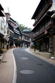Winding streets of Narita.