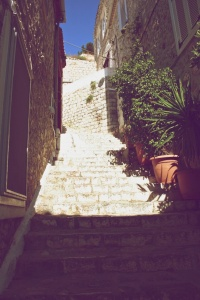 Even more stairs in Hydra, Greece